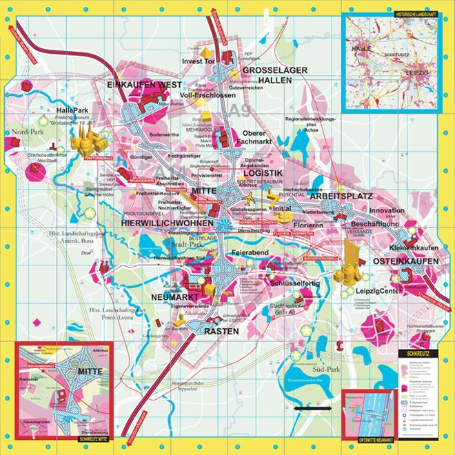 SMAQ architecture urbanism research Schkreutz City Map Halle