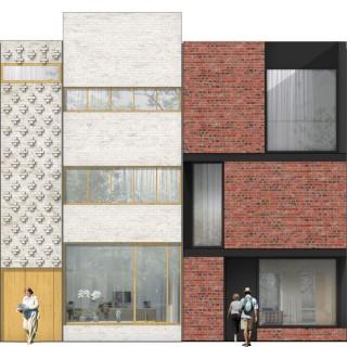 Smaq architecture urbanism research architecture for Brick elevation design